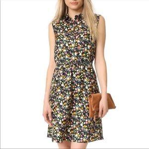 Tory Burch Ryder Black Floral Silk Dress